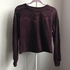 cropped sweater with detail